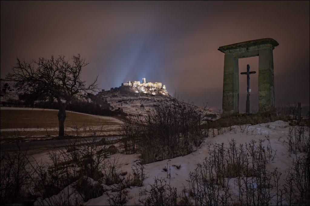spišský hrad zima